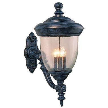 Melissa Tuscany 4-Light Outdoor Sconce; Black