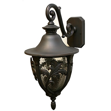 Melissa Tuscany 4-Light Outdoor Wall Lantern; Aged Silver