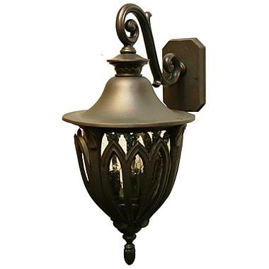 Melissa Tuscany 4-Light Outdoor Wall Lantern; Old World