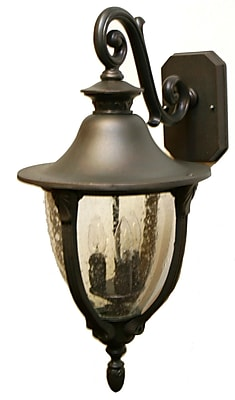 Melissa Tuscany 4-Light Outdoor Wall Lantern; Old Bronze