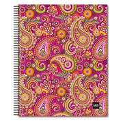 "Miquelrius Pink Paisley Four-Subject Notebook, College Rule, 8.5"" x 11"" (45051)"