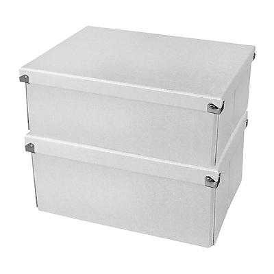 "Samsill® Pop n' Store Document Box, 12.75""L x 9.5""W x 5.94""H, White, 2/PK (PNS04LSWE2)"