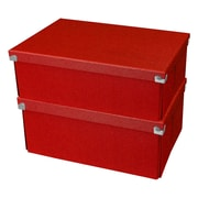 "Samsill® Pop n' Store Document Box, 12.75""L x 9.5""W x 5.94""H, Red, 2/PK (PNS04LSRD2)"