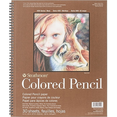 Strathmore Colored Pencil Spiral Paper Pad 11