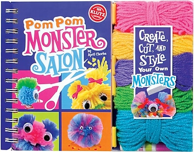 Klutz PomPom Monster Salon Book Kit (534624)
