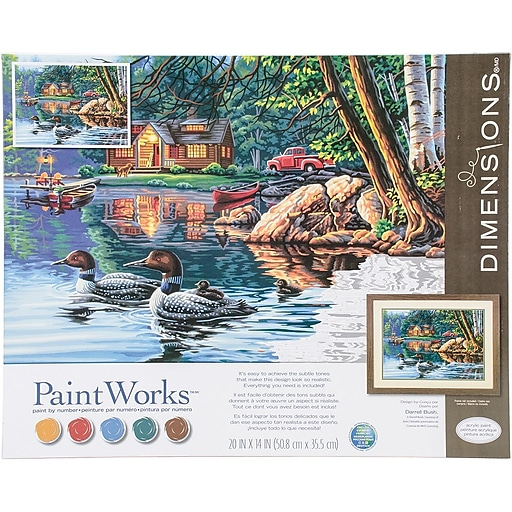 Paint Works Paint By Numbers Kit 16 X 20 Echo Bay 91474 Staples
