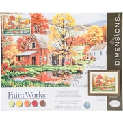 """Paint Works Paint-By-Number Kit, Friends Of Autumn, 16"""" x 20"""" (91475)"""