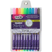 Tulip Extra-Fine Tip Fabric Markers 10/Pkg-Assorted