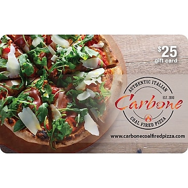 Carbone Coal Fired Pizza $25 Gift Card
