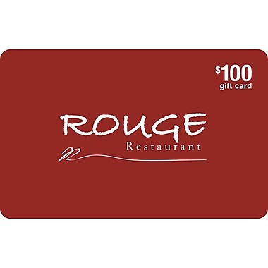 Rouge Restaurant – Carte-cadeau de 100 $
