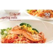 Spring Rolls – Carte-cadeau de 50 $