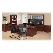 "RDC/Lorell Executive Desk, Rectangular, 72"" x 36"" x 29-1/2"", Mahogany"