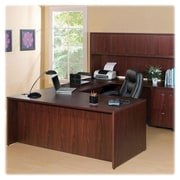 "RDC/Lorell Rectangular Desk Shell, 66"" x 30"" x 29-1/2"", Mahogany"