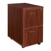 "RDC/Lorell Mobile Pedestal, File/File, 16"" x 22"" x 28-1/4"", Mahogany"