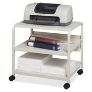 "Iceberg Enterprises Mobile Printer Stand, 50 lb Capacity, 21"" x 16"" x 19"", Platinum"