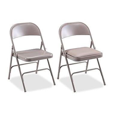 RDC/Lorell Folding Chairs, Padded Seat, 19-3/8