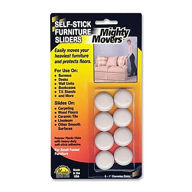 The Master Caster Company Furniture Sliders, Self-Adhesive, 1