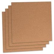 "Cork Panels, 12"" x 12"", 4/PK, Natural"