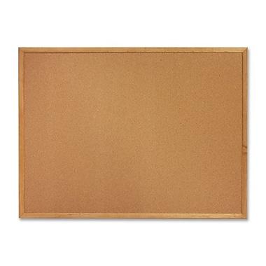 Tableau en liège, 4 x 3 pi, cadre en chêne