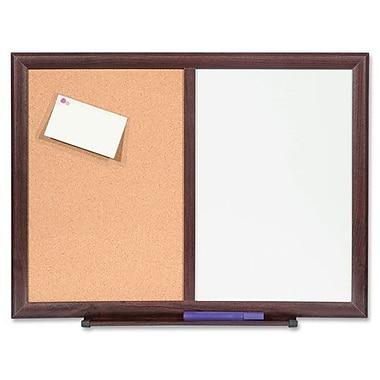 Bulletin Board Combo,Dry-Erase/Cork, 24