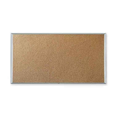 All-Purpose Cork Board, 3' x 2', Economy Aluminum Frame