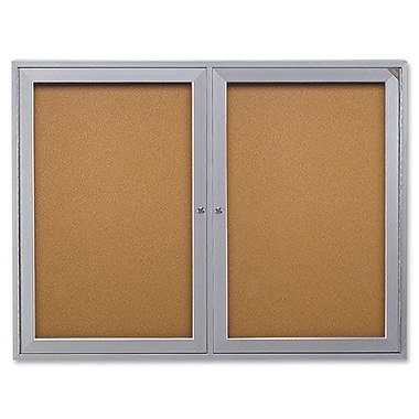 Enclosed Bulletin Board,2-Door,60