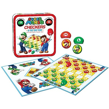 Jeu de dames et de Tic-Tac-Toe : Ensemble de jeu de collection Super Mario