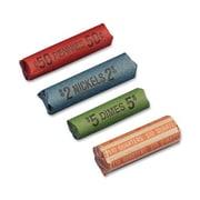 Sparco Coin Wrapper, Quarters, $10.00, 1000/Pack, Orange/Kraft
