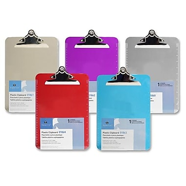 Sparco Transparent Plastic Clipboard, 9