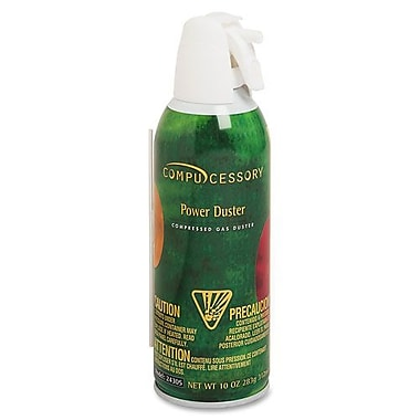 Compucessory Air Duster Cleaner Compressed Air, Moisture-free/Ozone Safe, 10 oz.