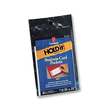 Cardinal Business Card Pockets, Side Load, 3-3/4