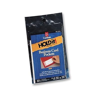 Cardinal Business Card Pockets, Side Load, 3-3/4