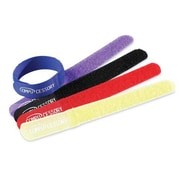 "Compucessory Cable Ties, 7"" x 3/4"" x 1/16"", 10/Pack, Assorted, 10/Pack"