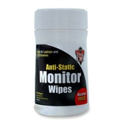 """Falcon Anti-static Monitor Wipes, 6"""" x 6-1/2"""", 80 Wipes/Pack"""