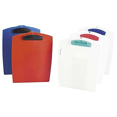 Storex Clipboard, Washable Plastic, 9-3/4