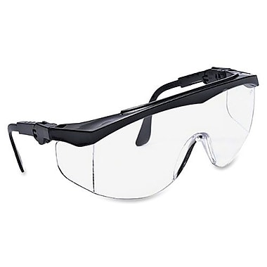 MCR Safety Protective Glasses, Adjustable, 5 Positions, Black/Clear