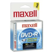 Maxell Mini DVD-R for Camcorders, 1.4GB, 3/Pack