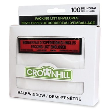 Crownhill Backloading Poly Envelopes, Packing List, 4