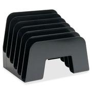 "Sparco Incline Desk Sorter, 6 Compartment, 8"" x 7-3/4"" x 6-1/2"", Black"