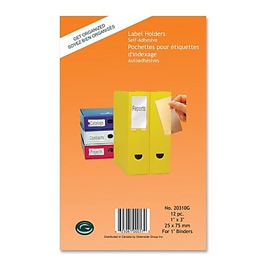 Greenside Label Holders, Self-Adhesives, 1-3/8