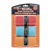 "Empack Screen Cleaning Cloth, Microfibre, 12"" x 8"", Assorted, 3/Pack"