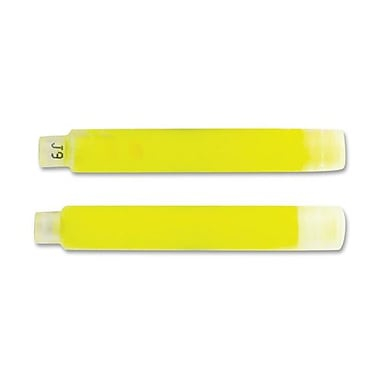 Zebra HL Refill f/Stainless Steel Liquid Ink Highlighters, 2/Pack, Yellow
