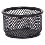 "Lorell Paper Clip Holder, 3-3/4"" x 3-7/8"", Black Mesh"