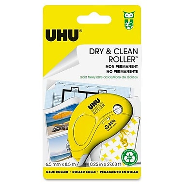 UHU Glue Roller, Non-Permanent, 6.5mm, 8.5m, Yellow