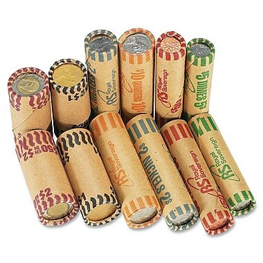 Royal Sovereign Canadian Coin Wrappers, Nickels, 36Rolls/Pack