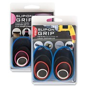 """Alliance Rubberband Slip-On-Grips, 1""""-1-3/4"""" x 2-1/2"""" x 3-1/2"""", 1/2"""" W, Assorted, 8/Pack"""