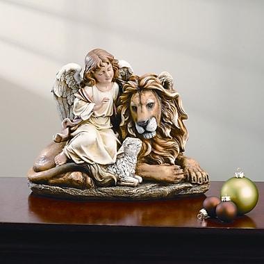 Roman, Inc. Lion and Lamb w/ Angel Figurine