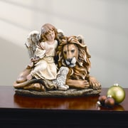 Roman, Inc. Lion and Lamb w/ Angel Figurine