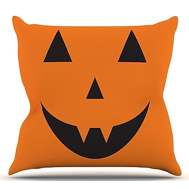 KESS InHouse Pumpkin Treat Throw Pillow; 18'' H x 18'' W x 3'' D