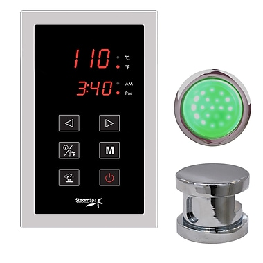Steam Spa SteamSpa Indulgence Touch Panel Control Kit; Brushed Nickel